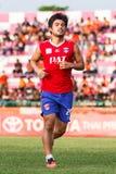 SISAKET TAILANDIA 21 DE JUNIO: Kroekrit Thaweekarn de Singhtarua FC Imagen de archivo libre de regalías