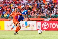 SISAKET TAILANDIA 21 DE JUNIO: Kroekrit Thaweekarn de Singhtarua FC Imagenes de archivo