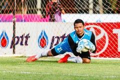 SISAKET TAILANDIA 21 DE JUNIO: Nattapol Krobyoo de Singhtarua FC Foto de archivo libre de regalías