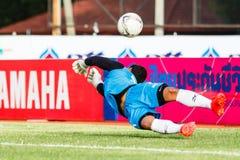 SISAKET TAILANDIA 21 DE JUNIO: Nattapol Krobyoo de Singhtarua FC Fotos de archivo