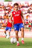 SISAKET TAILANDIA 21 DE JUNIO: Warut SAP-Tan de Singhtarua FC Foto de archivo