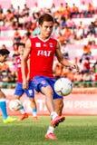 SISAKET TAILANDIA 21 DE JUNIO: Warut SAP-Tan de Singhtarua FC Fotos de archivo