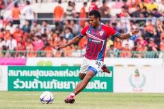 SISAKET TAILANDIA 7 DE MARZO: Yuththachai Liamkrai de Saraburi FC S Foto de archivo libre de regalías