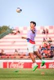 SISAKET TAILANDIA 7 DE MARZO: Yutthana Jongnork de Saraburi FC pista Fotografía de archivo