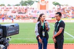 SISAKET TAILANDIA 3 DE MAYO: Chamaiporn Heanprasert del representante verdadero del deporte imagen de archivo