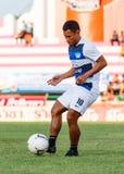 SISAKET TAILANDIA 28 DE MAYO: Pipob En-MES de Chonburi FC Foto de archivo
