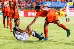 SISAKET TAILANDIA 28 DE MAYO: Pipob En-MES de Chonburi FC r Foto de archivo libre de regalías