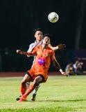 SISAKET TAILANDIA 15 DE OCTUBRE: Alongkorn Pratoomwong de Sisaket FC Foto de archivo
