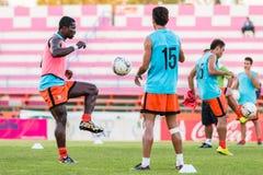 SISAKET TAILANDIA 29 DE OCTUBRE: Godwin Antwi de Sisaket FC Fotografía de archivo
