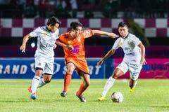 SISAKET TAILANDIA 29 DE OCTUBRE: Gorka Unda de Sisaket FC Imagen de archivo libre de regalías
