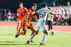 SISAKET TAILANDIA 29 DE OCTUBRE: Gorka Unda de Sisaket FC Foto de archivo libre de regalías