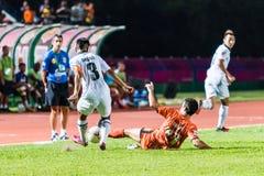 SISAKET TAILANDIA 29 DE OCTUBRE: Gorka Unda de Sisaket FC Fotografía de archivo libre de regalías