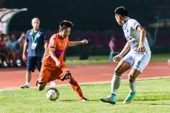 SISAKET TAILANDIA 15 DE OCTUBRE: Nuttawut Khamrin de Sisaket FC Fotos de archivo