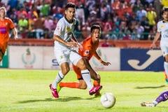 SISAKET TAILANDIA 29 DE OCTUBRE: Santirad Wiang-en de Sisaket FC Foto de archivo