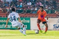 SISAKET TAILANDIA 15 DE OCTUBRE: Santirat Viang-en de Sisaket FC Fotografía de archivo