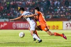 SISAKET TAILANDIA 15 DE OCTUBRE: Sarayuth Chaikamdee de Sisaket FC Fotografía de archivo
