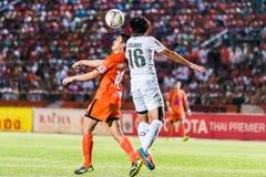 SISAKET TAILANDIA 29 DE OCTUBRE: Sarayuth Chaikamdee de Sisaket FC Foto de archivo