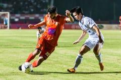 SISAKET TAILANDIA 15 DE OCTUBRE: Victor Amaro de Sisaket FC Foto de archivo