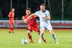 SISAKET TAILANDIA 20 DE SEPTIEMBRE: Anucha Suksai de Sisaket FC (ora Foto de archivo libre de regalías