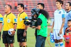 SISAKET TAILANDIA 20 DE SEPTIEMBRE: Cameraman durante primero ministro tailandés Lea Foto de archivo libre de regalías