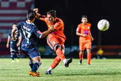 SISAKET TAILANDIA 21 de septiembre: David Bala de Sisaket FC Imagen de archivo