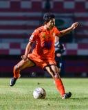 SISAKET TAILANDIA 21 de septiembre: Lar-tham de Tadpong de Sisaket FC Imagen de archivo libre de regalías