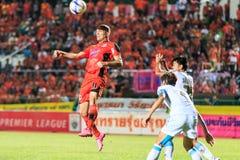 SISAKET TAILANDIA 20 DE SEPTIEMBRE: Mohsen Bayatinia de Sisaket FC ( Fotos de archivo libres de regalías
