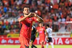 SISAKET TAILANDIA 16 DE SEPTIEMBRE: Victor Amaro de Sisaket FC en la CA Imagen de archivo libre de regalías