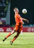 SISAKET TAILANDIA 15 ottobre: Brent McGrath di Sisaket FC Fotografie Stock