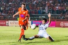 SISAKET TAILANDIA 15 ottobre: Brent McGrath di Sisaket FC Immagini Stock Libere da Diritti