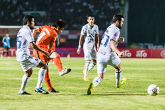 SISAKET TAILANDIA 15 OTTOBRE: Nuttawut Khamrin di Sisaket FC Fotografia Stock Libera da Diritti