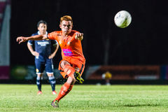 SISAKET TAILANDIA 21 settembre: Ekkapan Jandakorn di Sisaket FC Immagine Stock