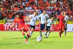 SISAKET TAILANDIA 16 SETTEMBRE: Victor Amaro di Sisaket FC introito immagine stock