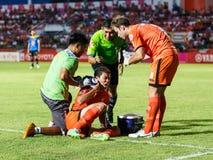 SISAKET THAÏLANDE 21 MAI : Santirat Viang-dans de Sisaket FC (orang-outan Image libre de droits