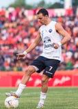 SISAKET THAÏLANDE 15 octobre : Carmelo Gonzalez d'UTD de Buriram Photos stock