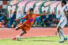SISAKET THAÏLANDE 15 OCTOBRE : Jakkapong Somboon de Sisaket FC Photo libre de droits