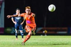 SISAKET THAÏLANDE 21 septembre : Ekkapan Jandakorn de Sisaket FC Image stock