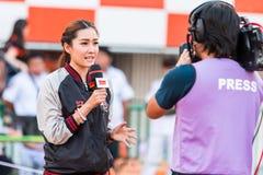 SISAKET THAILAND-APRIL 4: Chamaiporn Heanprasert Prawdziwy sport r Zdjęcie Royalty Free