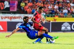 SISAKET THAILAND-AUGUST 12: Adefolarin Durosinmi of Sisaket FC. Stock Images