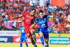 SISAKET THAILAND 12. AUGUST: Adefolarin Durosinmi von Sisaket FC Stockfoto