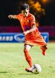 SISAKET THAILAND 3. AUGUST: Alongkorn Pratoomwong von Sisaket FC Lizenzfreie Stockbilder