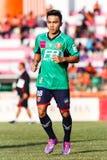 SISAKET THAILAND-AUGUST 3: Chanathip Songkrasin av BEC Tero Sasana FC Royaltyfria Bilder
