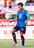 SISAKET THAILAND-AUGUST 3: Chanathip Songkrasin av BEC Tero Sasana FC Royaltyfri Fotografi