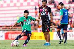 SISAKET THAILAND-AUGUST 3: Chanathip Songkrasin av BEC Tero Sasana FC Fotografering för Bildbyråer