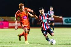 SISAKET THAILAND-AUGUST 3: Chanathip Songkrasin av BEC Tero Sasana FC Royaltyfria Foton