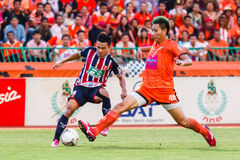 SISAKET THAILAND-AUGUST 3: Chanathip Songkrasin of BEC Tero Sasana FC. Royalty Free Stock Images