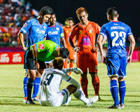 SISAKET THAILAND-AUGUST 13: Ekkapan Jandakorn of Sisaket FC. Stock Photo