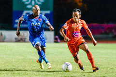 SISAKET THAILAND-AUGUST 13: Jirawat Daokhao of Sisaket FC. Stock Photos