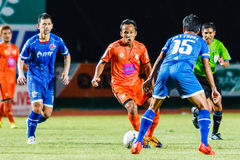SISAKET THAILAND-AUGUST 13: Jirawat Daokhao of Sisaket FC. Stock Images