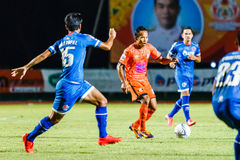 SISAKET THAILAND-AUGUST 13: Jirawat Daokhao of Sisaket FC. Royalty Free Stock Photography